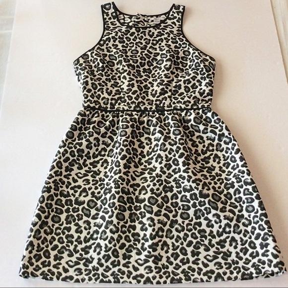 1fd8e9e20c4 Bar III Dresses   Skirts - BAR III FIT   FLARE LEOPARD PRINT DRESS ...